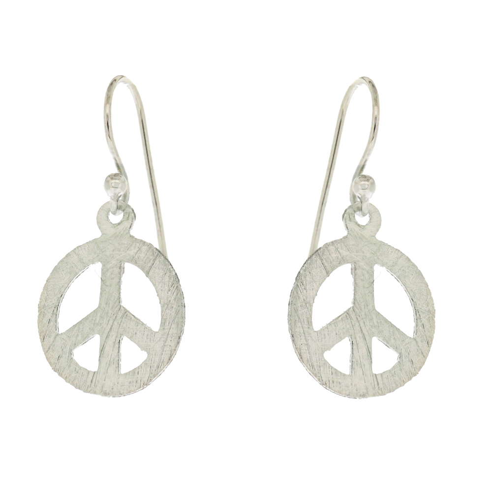 Small Round Peace Earrings