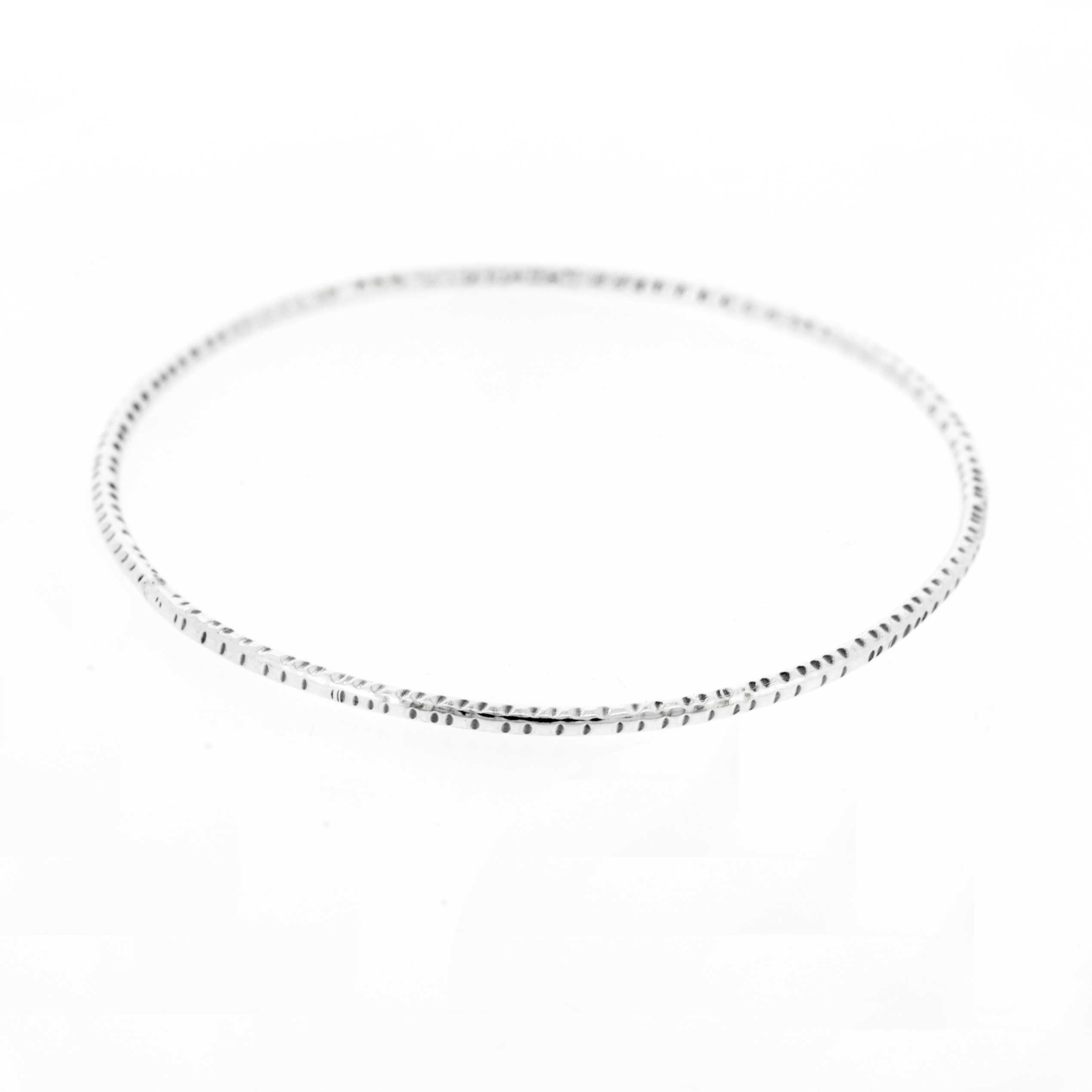 Simply Silver Scored Bangle