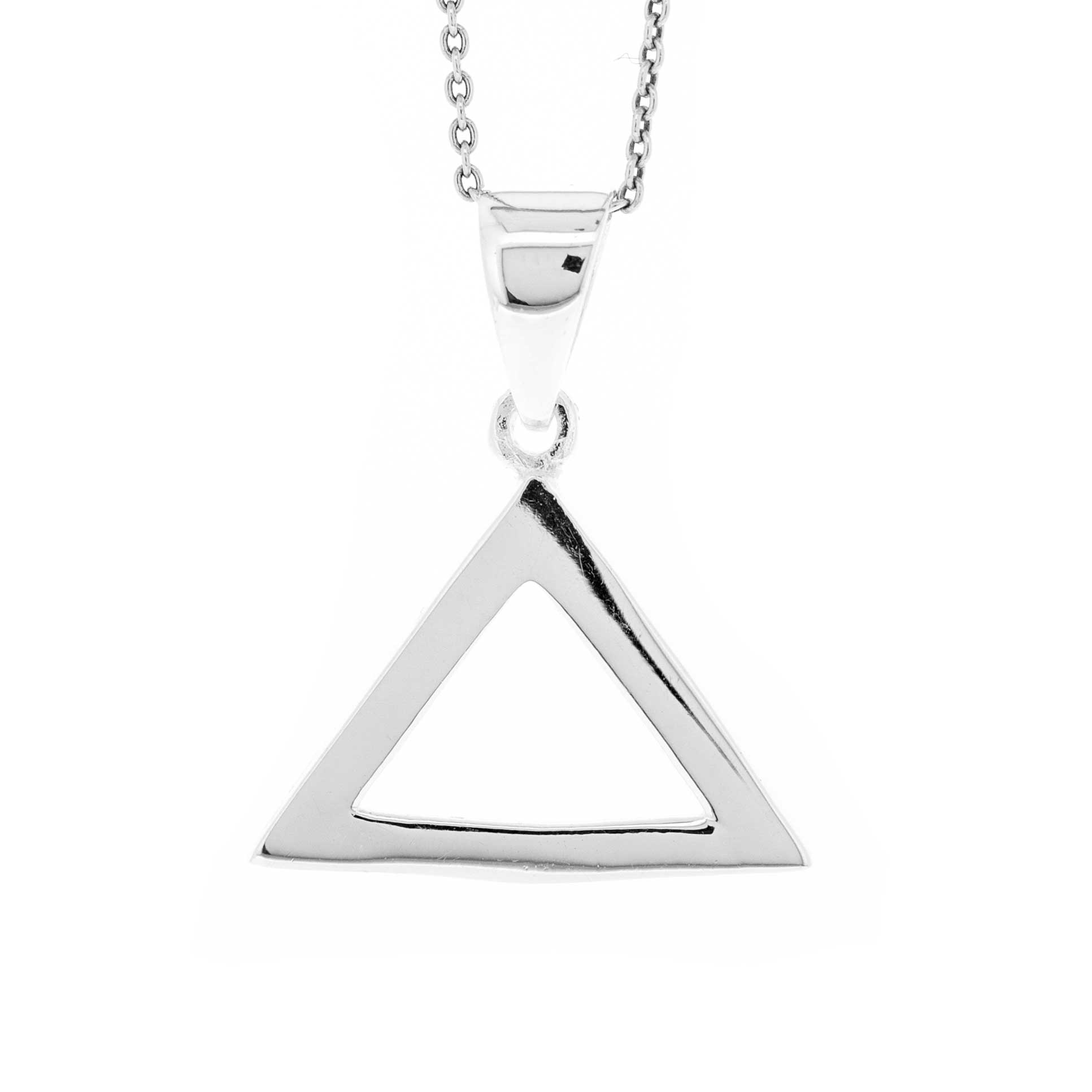 Simply Silver Triangle Pendant