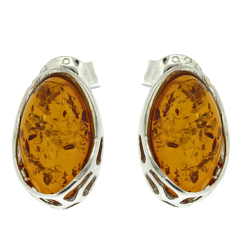 Classic Amber Giraffe Stud Earrings