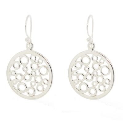 Kitten Circles Bubbles Drop Earrings