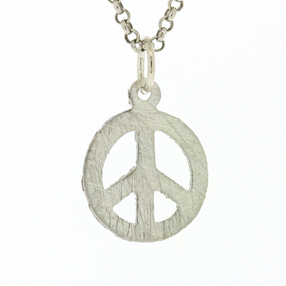 Small Round Peace Pendant