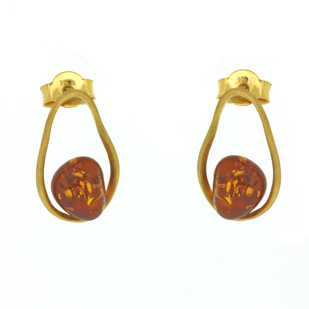 Amber Art Lake Earrings