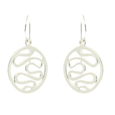 Kitten Round Swirl Drop Earrings