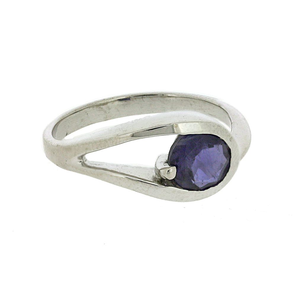 Bemine Tear Shape Round Stone Ring