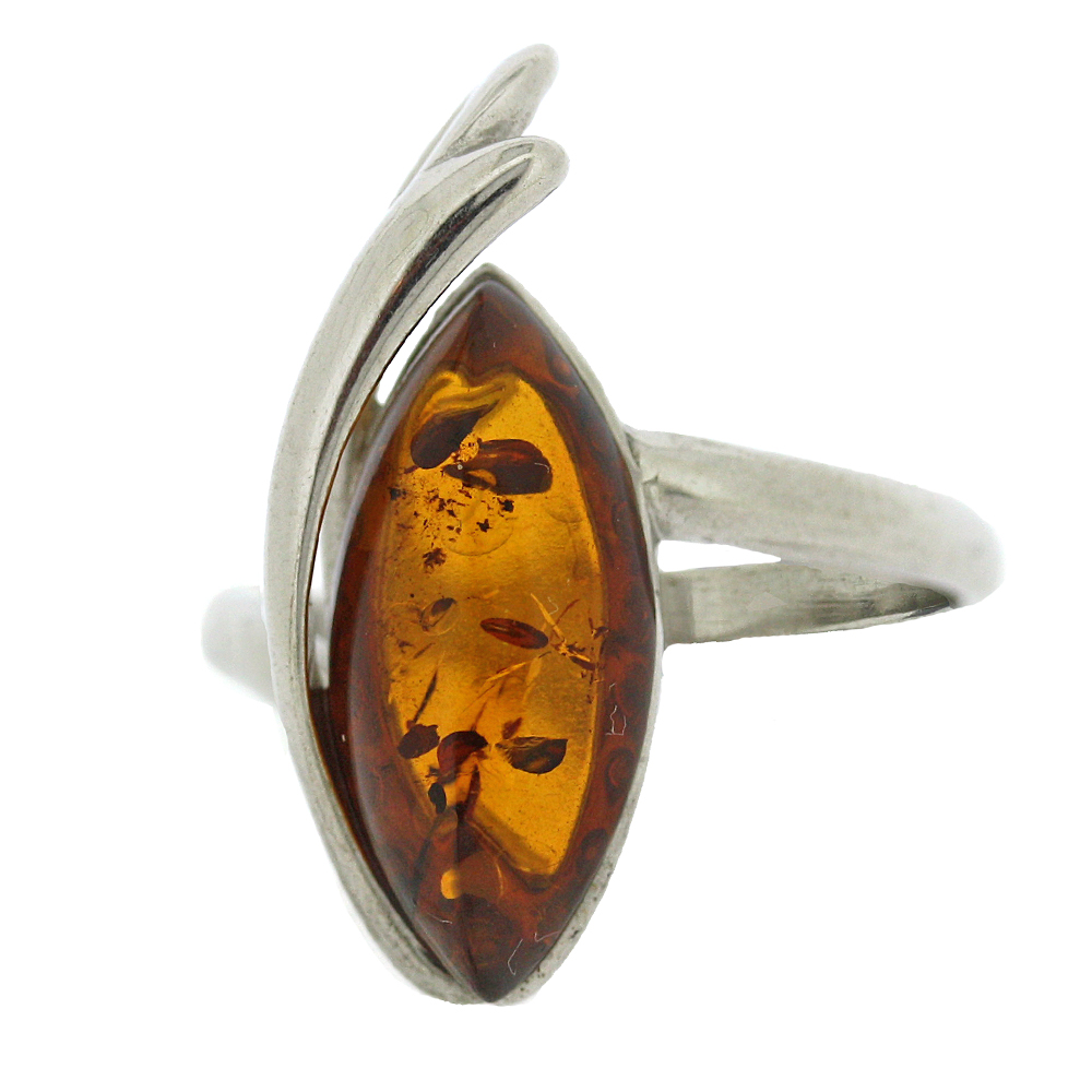 Classic Amber Zabelle Marquise Swish Cognac Ring