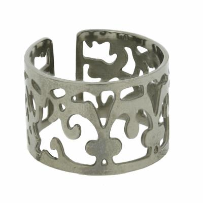 Nova Steel Cut Out Pattern Ring