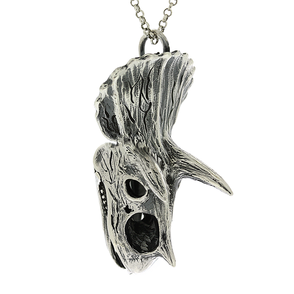 Tooth and Claw Triceratops Skull Pendant