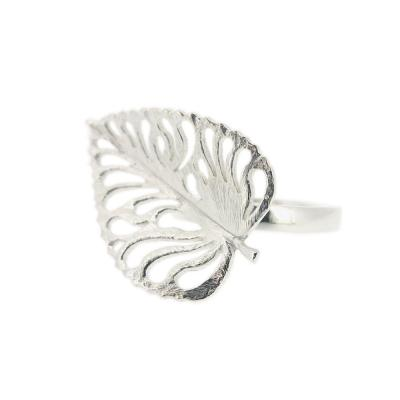 Kitten  Large Liberty Leaf Ring