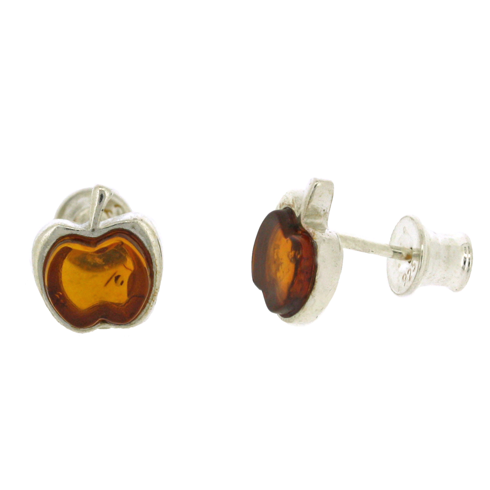 Amber Art Apple Studs