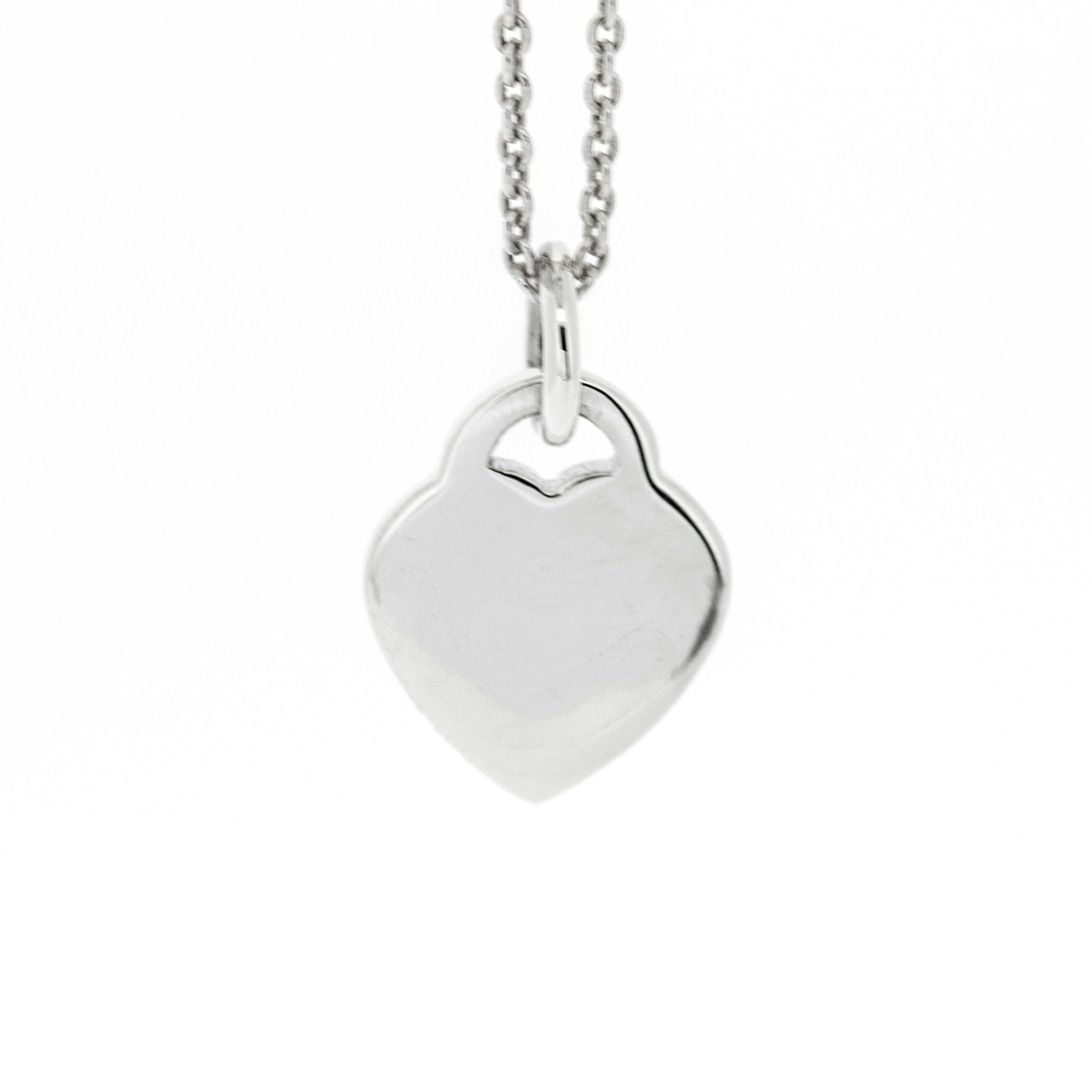 Simply Silver 10mm Heart Tag Pendant