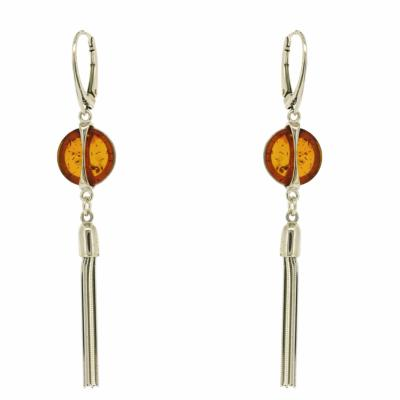 Amber Art Tassle Earrings