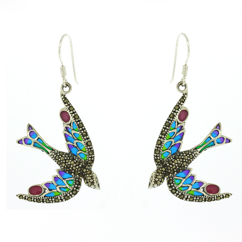 Enamels Swallow Earrings