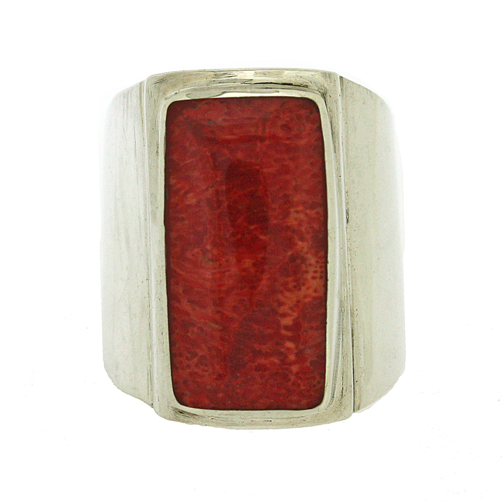 Bespoke Red Sponge Coral Ring
