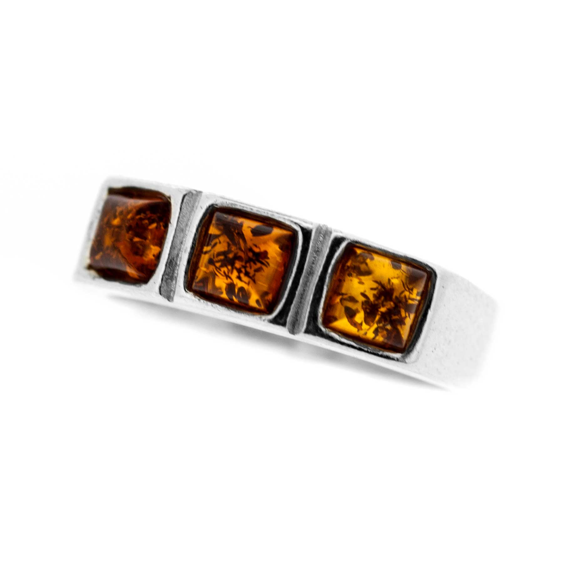 Classic Amber Trilogy Ring