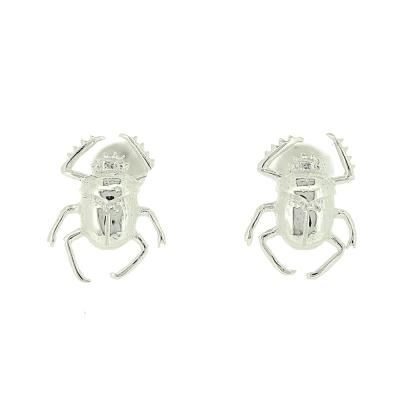 Kitten Scarab Beetle Stud Earrings