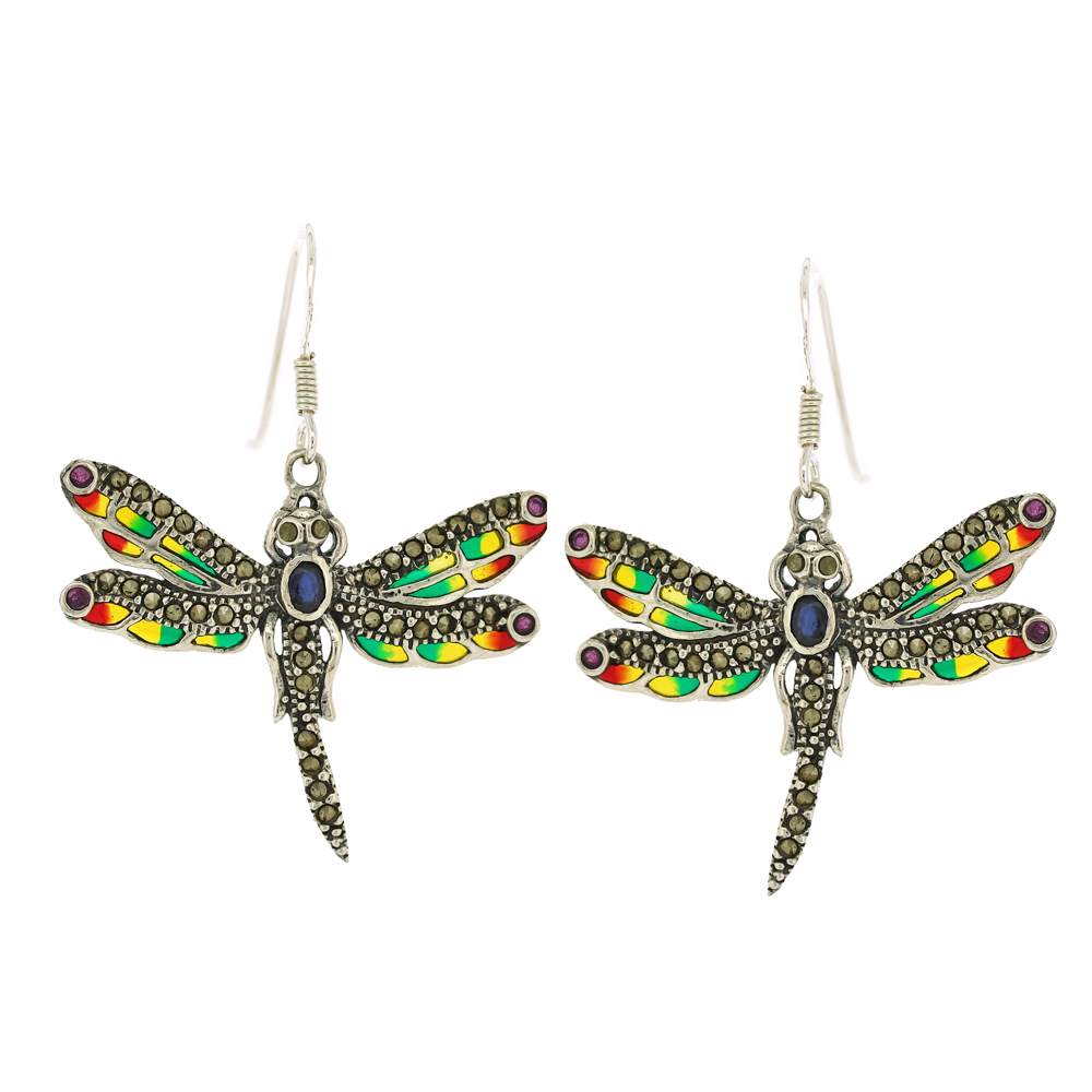 Enamels Dragonfly Earrings