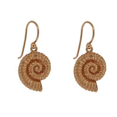 Kitten Ammonite Drop Earrings