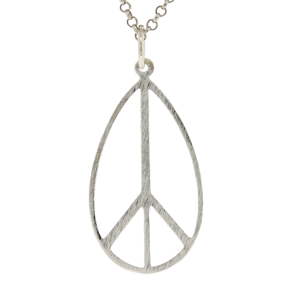 Long Peace Sign Pendant