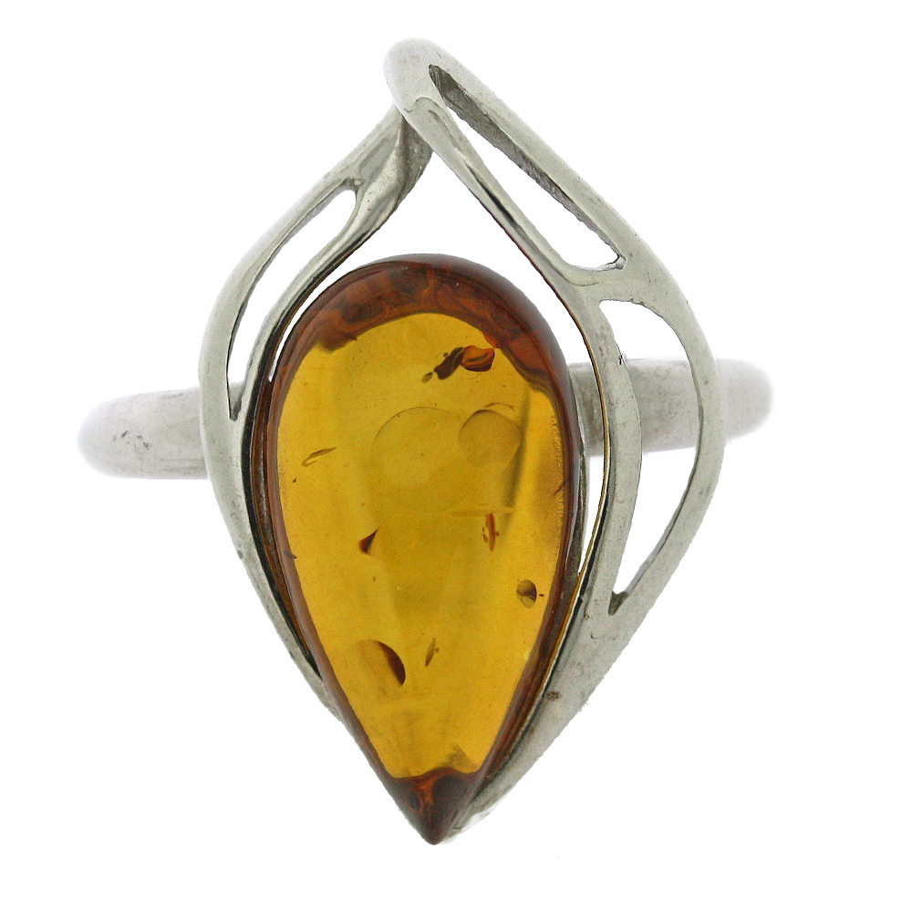 Classic Amber Zabelle Tears Cognac Ring