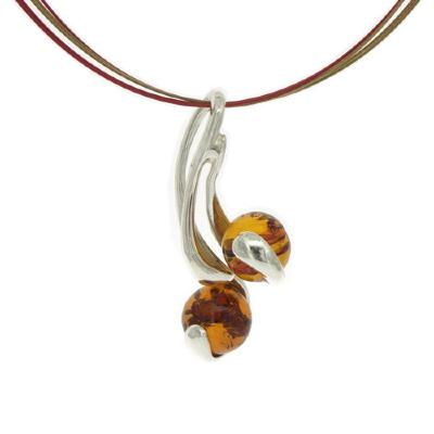 Amber Art Curls Necklace