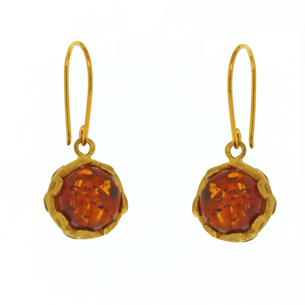Amber Art Sphere Drops Earrings
