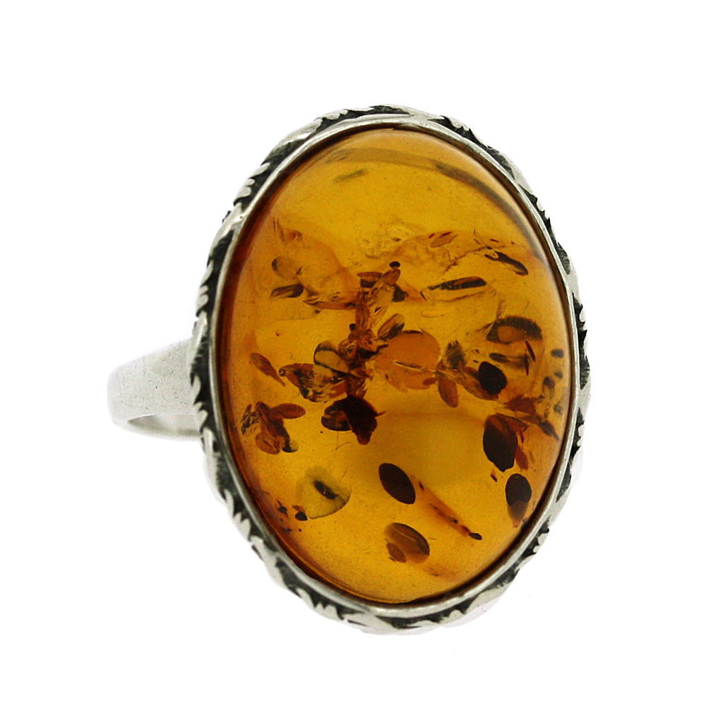 Classic Amber Victoriana Ring
