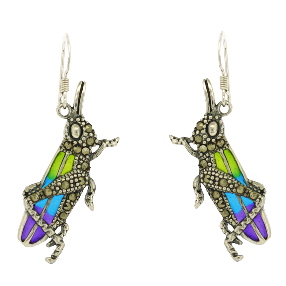 Enamels Grasshopper Earrings