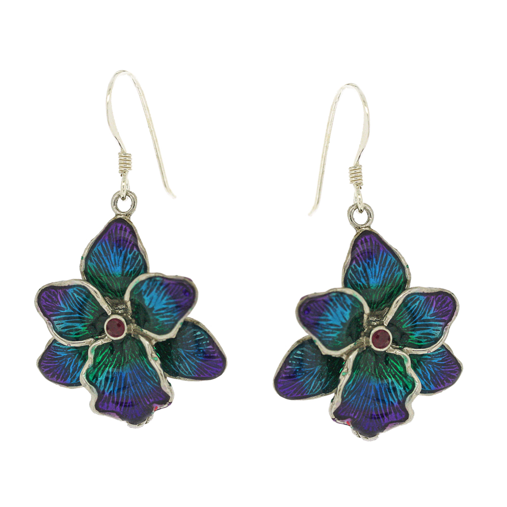Enamels Flower Earrings