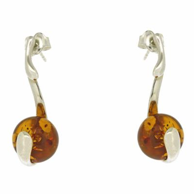 Amber Art Cradle Earrings