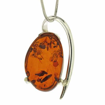 necklaces silver amber women buy beautiful pendant cm eng with and jewellery necklace