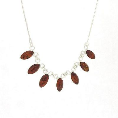 Classic Amber Eye Shape Necklace