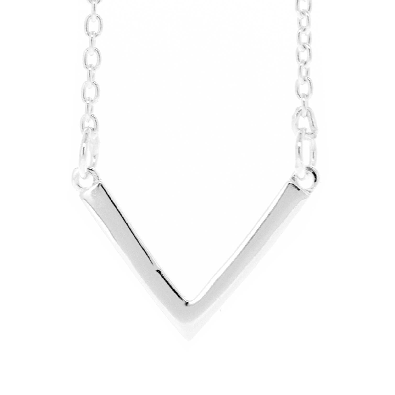 Simply Silver V Necklace