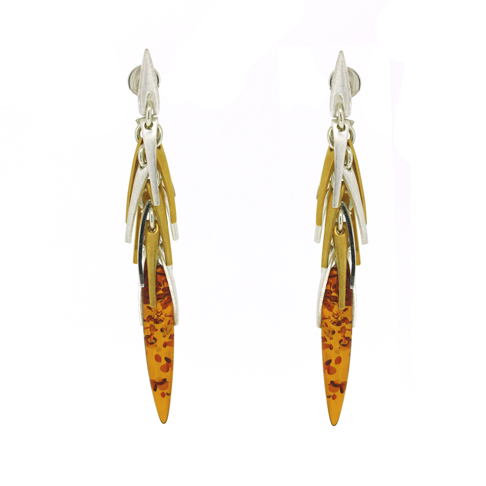 Amber Art Autumn Rain Earrings