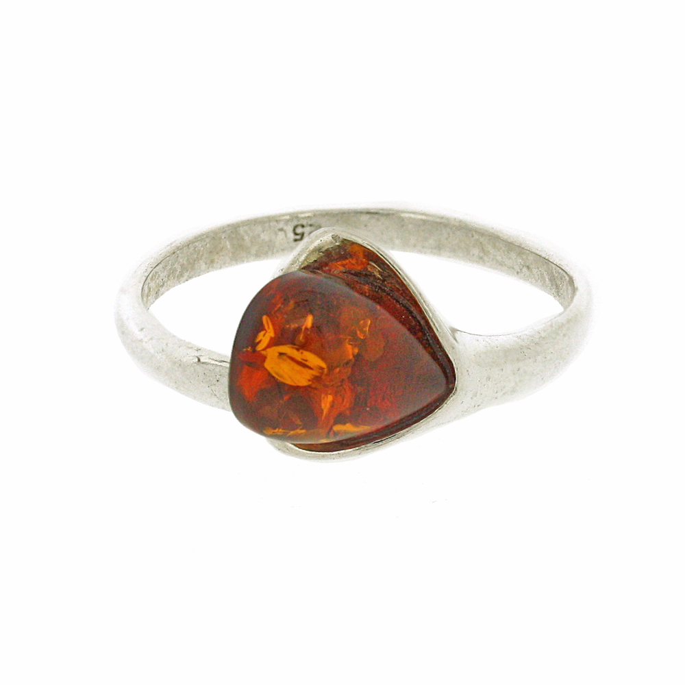 Amber Romance Flutes Ring