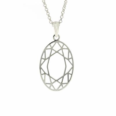 Geo Diamonds Oval Cut Pendant