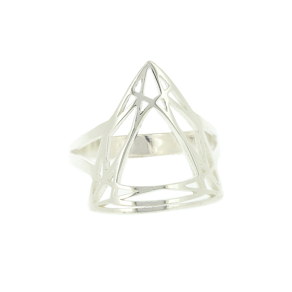 Geo Diamonds Trillion Cut Ring
