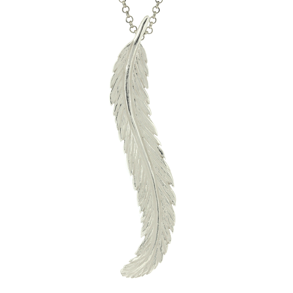 Kitten Feather in the Wind Pendant