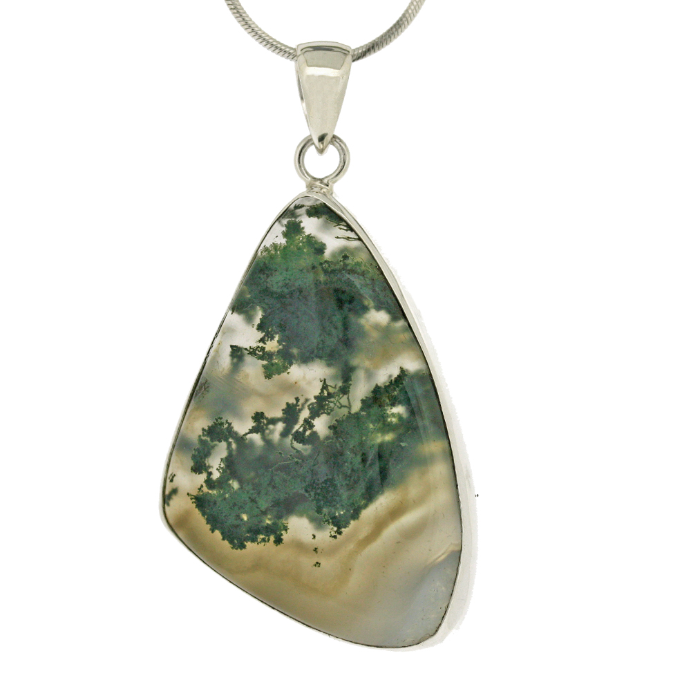 moss necklace crystal agate vaults