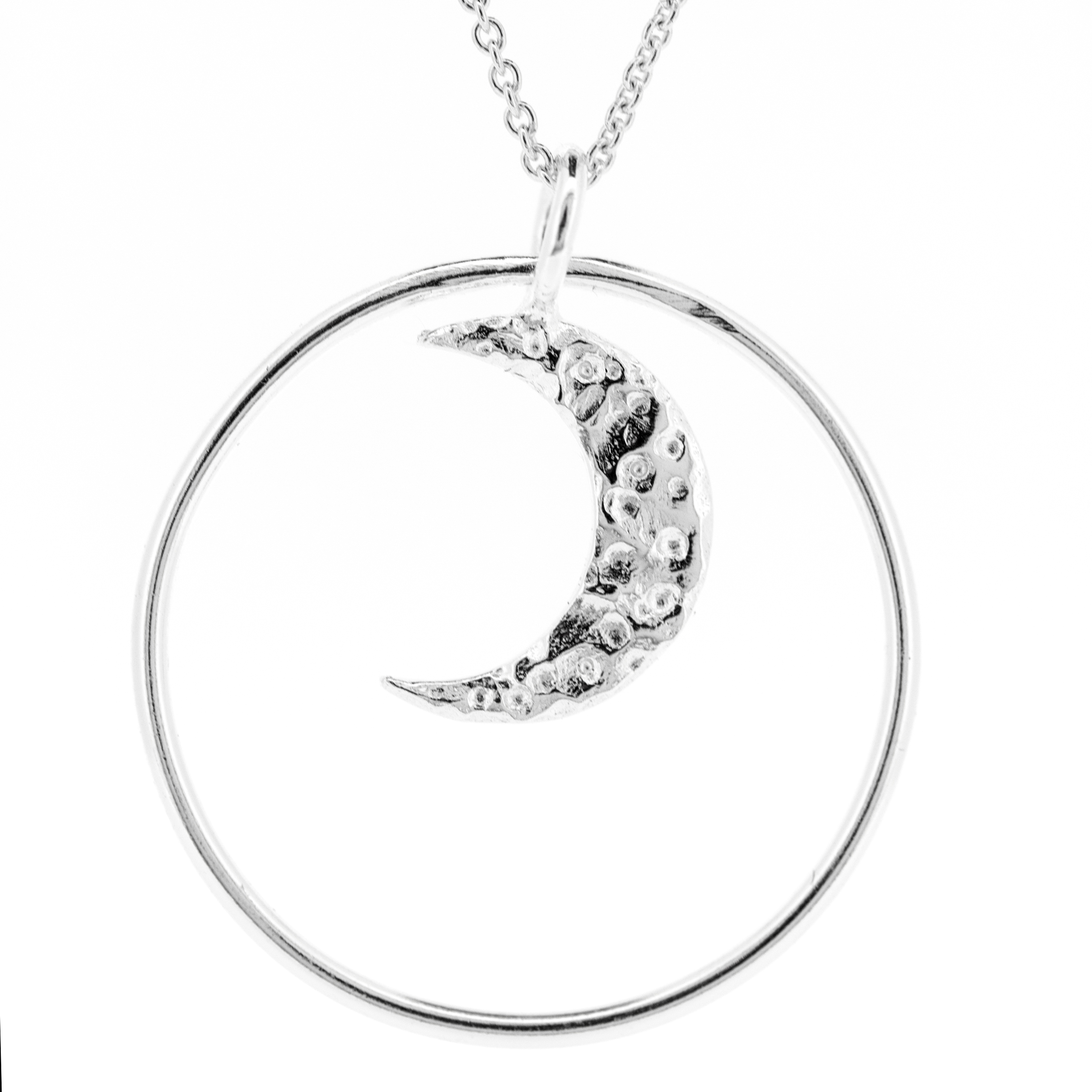 Kitten Moon Pendant