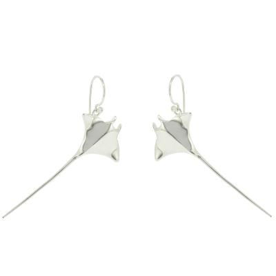Kitten Manta Ray Drop Earrings