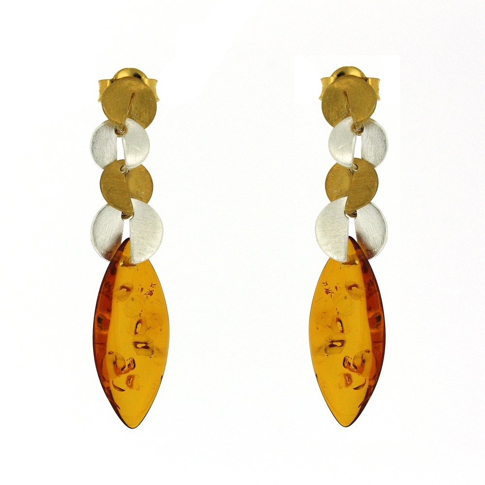 Amber Art Fusion Earrings
