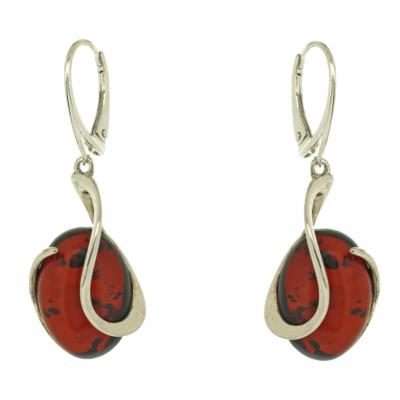 Amber Art Swirl Earrings