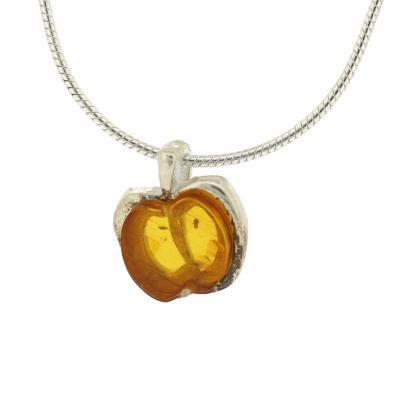 Amber art little apple pendant aloadofball Choice Image
