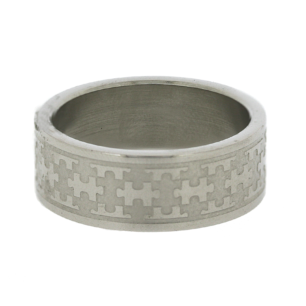 Nova Steel Jigsaw Band Ring