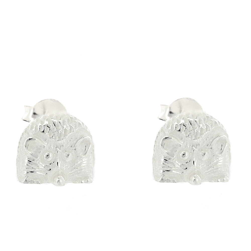 Kitten Hedgehog Studs