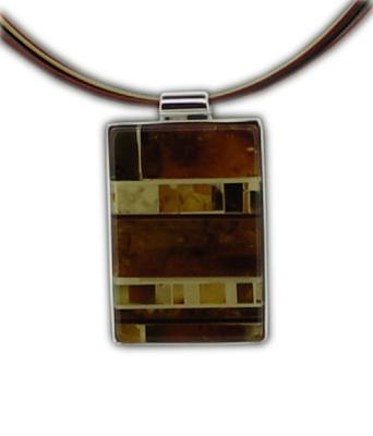 Mosaic Amber Rectangle Necklace